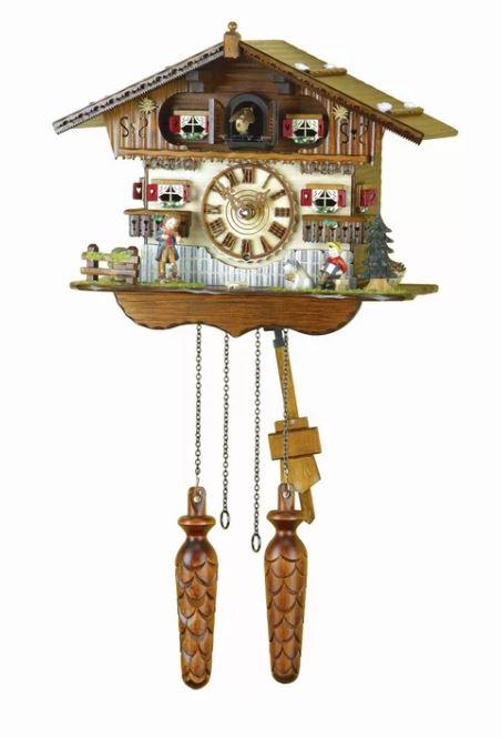 Darby Home Co Walnut Wood Wall Clock