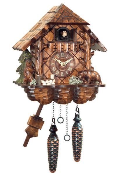 Engstler Carved Bears Cuckoo Clock