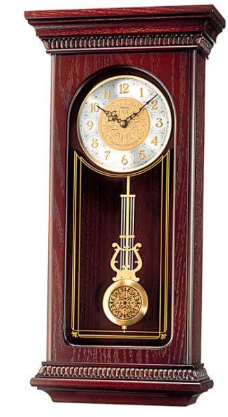 Seiko Mahogany Wall Clock