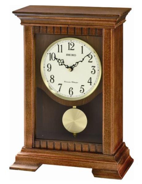 Seiko Medium Brown Clock with Pendulum and Chime